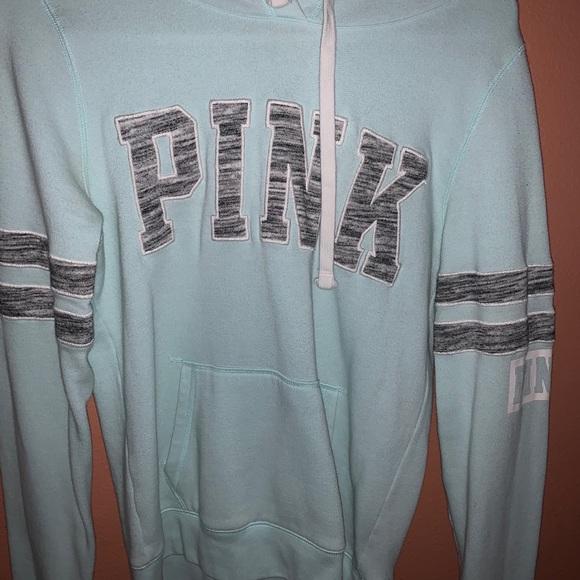 PINK Turquoise hoodie